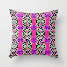 Neon Vibrations Throw Pillow