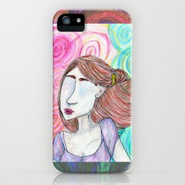 Unreal Portrait, Two iPhone Case
