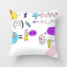 Oooh! the logic! Throw Pillow