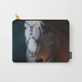 Painted horse portrait Carry-All Pouch