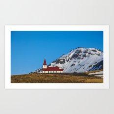 Vik Church Iceland Art Print