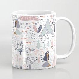 Native american inspired pattern pastel colors Coffee Mug
