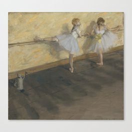 Dancers Practicing at the Barre Canvas Print