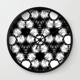 Tessellated Roses Wall Clock