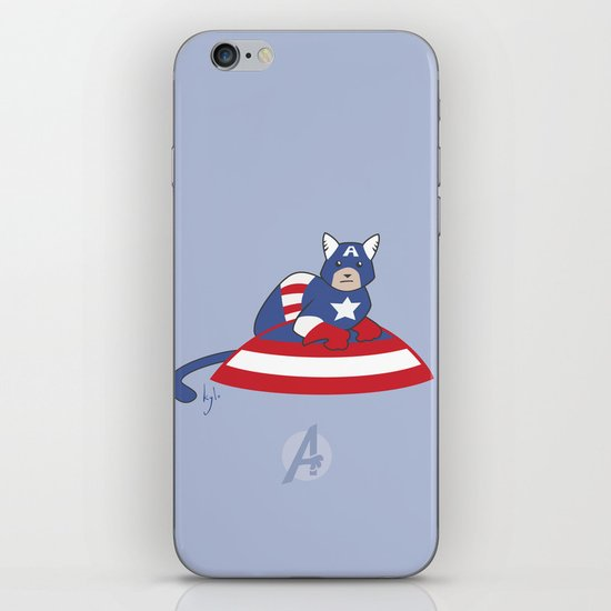 Captain AmeriCAT: The First Catvenger iPhone Skin