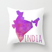 india Throw Pillows featuring India by Stephanie Wittenburg