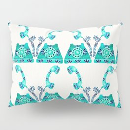 Vintage Rotary Phone – Turquoise Palette Pillow Sham