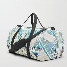 silver art nouveau Duffle Bag