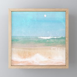 Sea and Moon Framed Mini Art Print