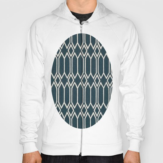 Geometrics in Blue and White Diamonds Hoody