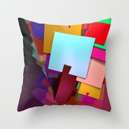 crazy cuboids Throw Pillow