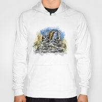 prague Hoodies featuring Prague Angel by jbjart