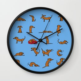 Sausage the Dog: Blue Print Wall Clock