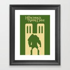 The hunckback of Notre Dame Framed Art Print