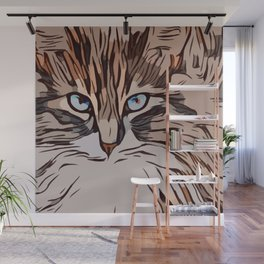 The Tranquil Cat  Wall Mural
