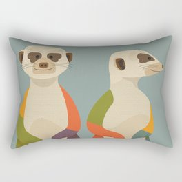 Meerkats Rectangular Pillow