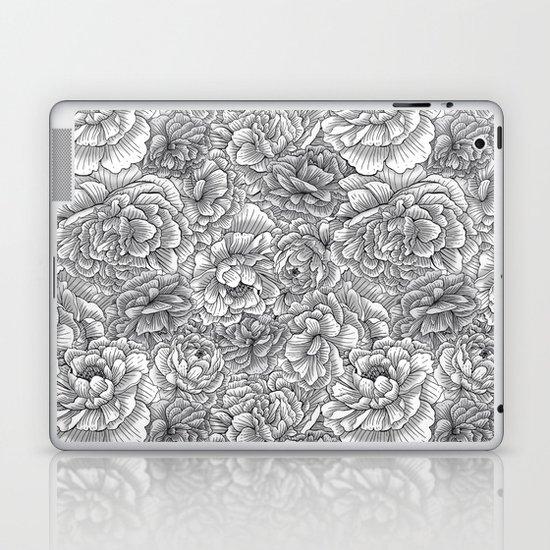 Black & White Blossom Laptop & iPad Skin