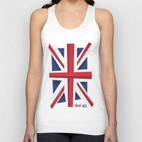 union jack Tank Tops featuring Union Jack Flag by Tonio YUMUI