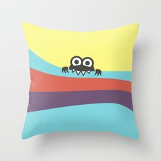 Yummy Colorful Stripes Cute Cartoon Character Throw Pillow