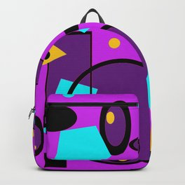Retro abstract print purple violet Backpack