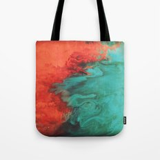 Vintage red and blue Tote Bag
