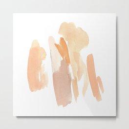 Minimal Art Print Dusty Blush Tones Metal Print
