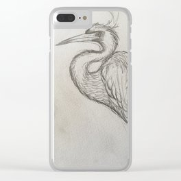 Bird drawing Clear iPhone Case