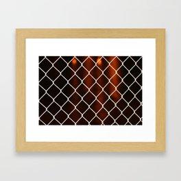 Fire Through Wire Framed Art Print