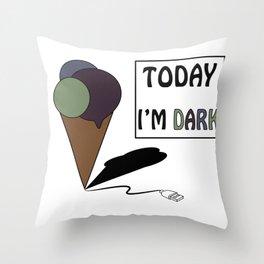 gelatoUsb - today i'm DARK Throw Pillow