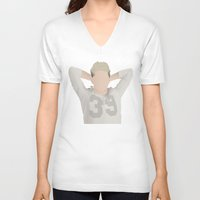 niall horan V-neck T-shirts featuring NIALL HORAN FOUR by Samantha Anderson