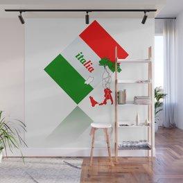 Elegant Italia - Italy Flag And Map Wall Mural