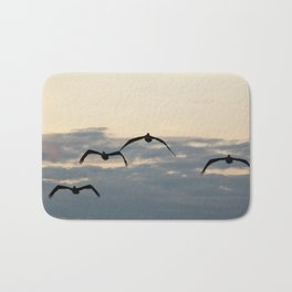 Pelicans in the Sky Bath Mat
