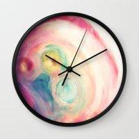 third eye Wall Clocks featuring third eye by Mojca G. Vesel