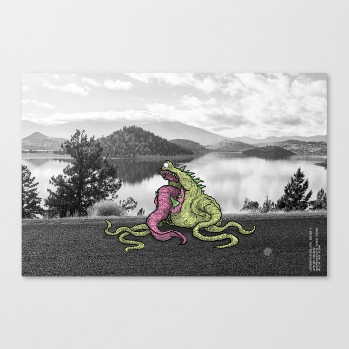 Unseen Monsters of Mount Shasta - Lipstisk Williwop Canvas Print