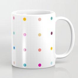Rainbow polka dot pegboard Coffee Mug