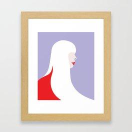 Joni Mitchell (red) Framed Art Print