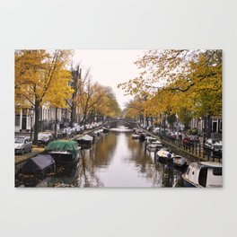 Autumn on Amsterdam's canals Canvas Print