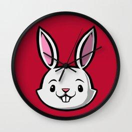 Cute Kids Bunny Wall Clock