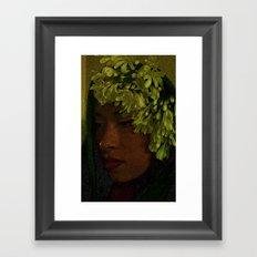 Native Princess Framed Art Print