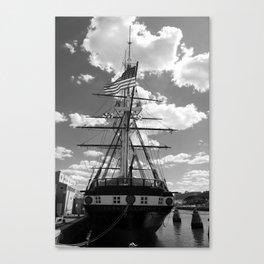 Baltimore Harbor - USS Constellation Canvas Print