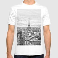 Paris White MEDIUM Mens Fitted Tee