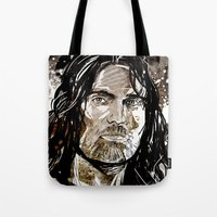 aragorn Tote Bags featuring Aragorn by Patrick Scullin