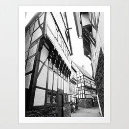 Old houses in Hattingen Art Print