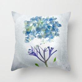 Botanical Blueprints - Hydrangea Throw Pillow