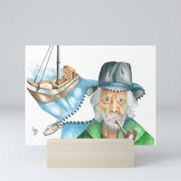 The Old Man & the Sea  Mini Art Print