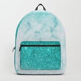 Robin's Egg Blue Glitter Fading marble Backpack