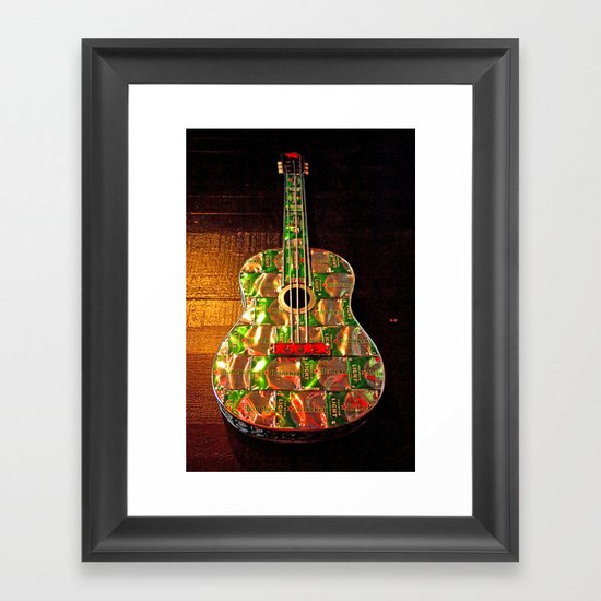 Heineken guitar Framed Art Print