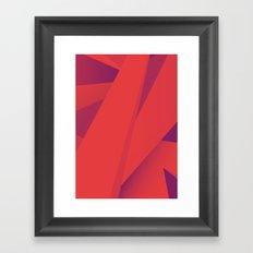 Striking Red Framed Art Print