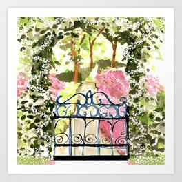The Secret Garden Gate Art Print