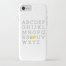 Alphabet Tea Slim Case iPhone 8